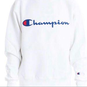 🤍 Champion White Logo Crewneck 🤍